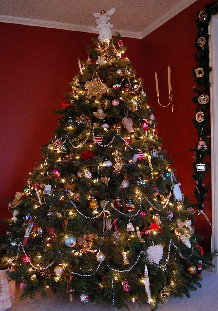 vicorian christmas trees were covered with beads and hand made ornaments angels and tin soldiers - Victorian Christmas Trees