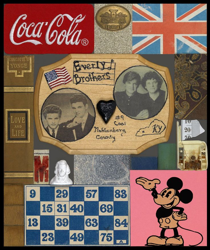 Peter Blake 'Everly Brothers' collage objects/photos