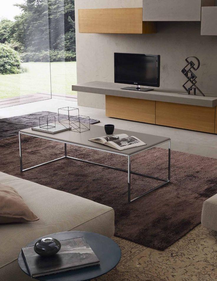 Basic konferenční stolek béžový / modern coffee table