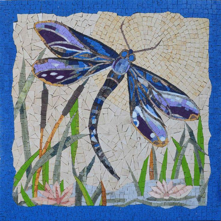 280 best mosaics birds butterflies dragonflies for Dragonfly wall art