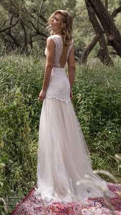 limor rosen 2017 bridal sleeveless v neck heavily embellished bodice romantic drop waist tulle skirt a line wedding dress low back sweep ttrain (eve) bv
