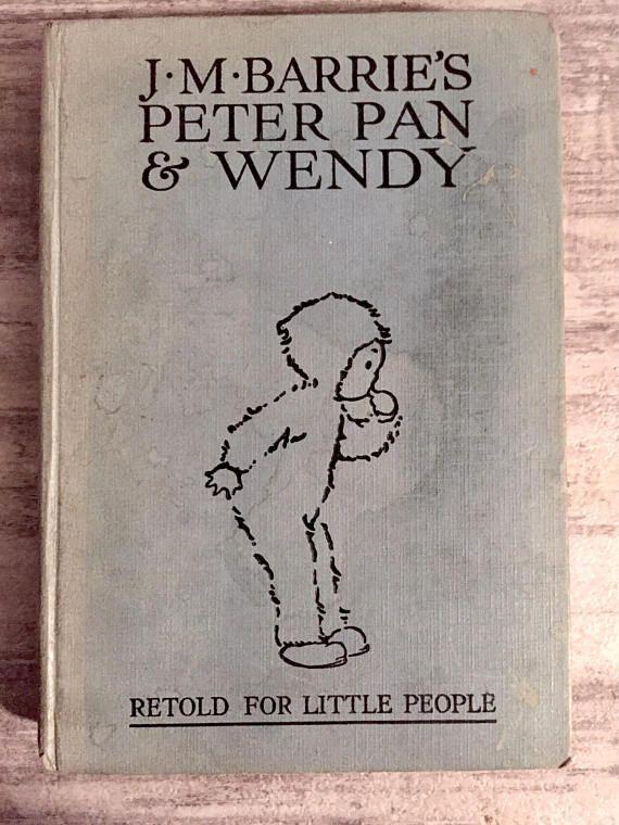 Peter Pan & Wendy by J.M. Barrie, Retold for Little People #MayByron #MabelLucieAttwell #vintagechildrensbook #PeterPan #PeterPanandWendy #Book