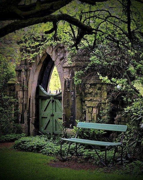 Blue Pueblo, Garden Gate, Regents Park, London, England photo