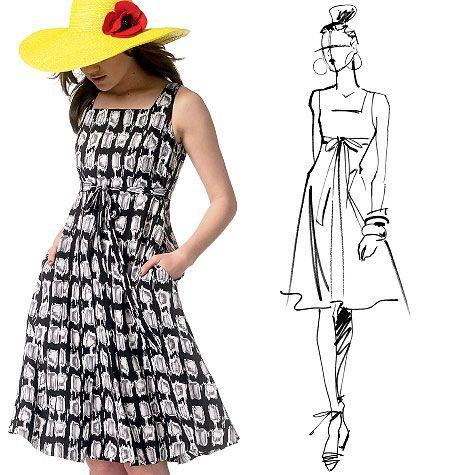 """Mönster att sy en snygg klänning """"fashion star"""""""