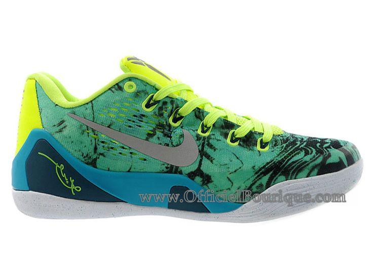 Chaussures Nike BasketBall Pas Cher Pour Femme Officiel Nike Kobe 9/IX Low Turbo  Vert