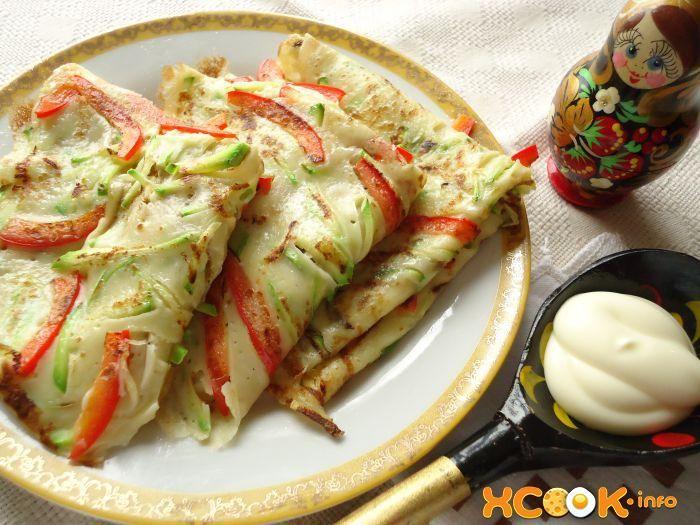 закусочные овощные блинчики