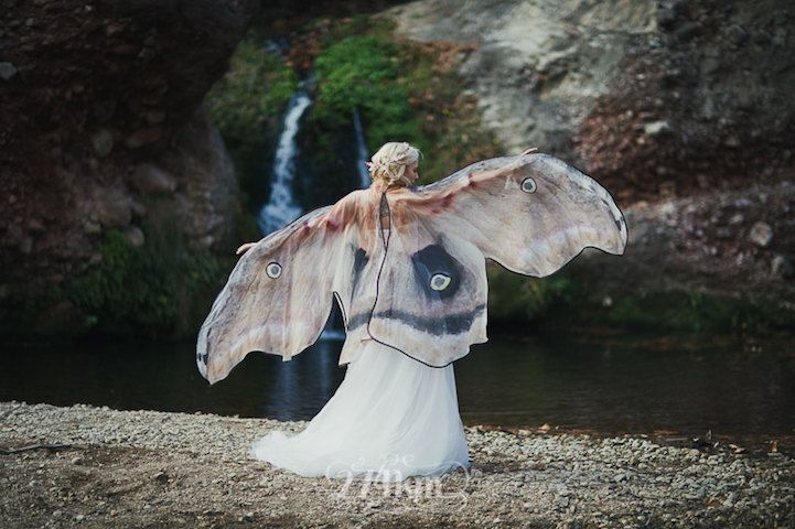 El Costurero Real produces delicate scarves that let you wrap yourself in the wings of a butterfly or moth.