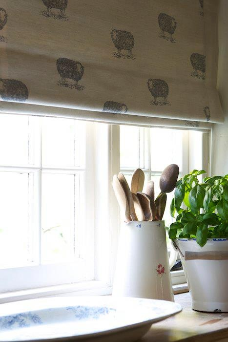 100% Scottish linen Blinds - Sheep