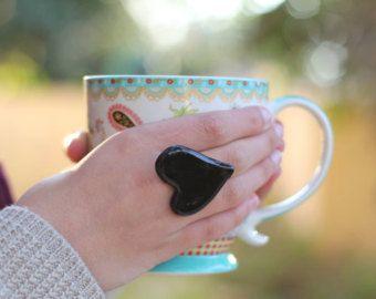 Boho gioielli turchese anello  gioielli in ceramica Boho chic