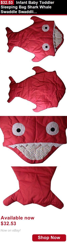 Sleeping Bags And Sleepsacks: Infant Baby Toddler Sleeping Bag Shark Whale Swaddle Swaddling Blanket Nursery BUY IT NOW ONLY: $32.53