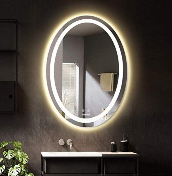Specchio Bagno 80 X 70.Luvodi Supporto Da Parete Per Specchio Da Bagno Con Luci Led