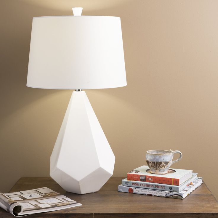 Shop surya white table lamp at lowes canada find our selection of table lamps at the lowest price guaranteed with price match off