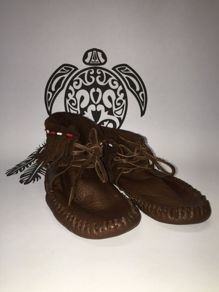 Delaware First Nation Moccasin Shoe by ifitsticks on Etsy
