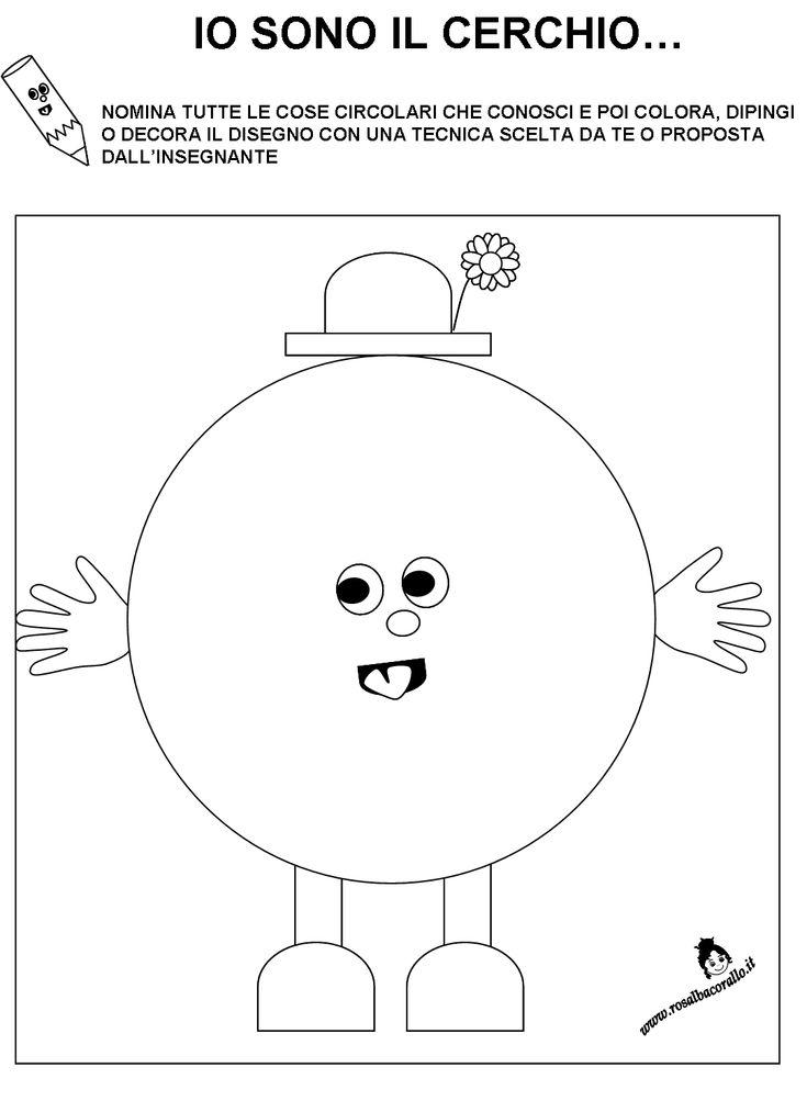 Schede didattiche figure geometriche per bambini di 3 4 for Altalena con scivolo per bambini