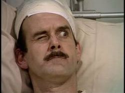 """65. """"The Germans,"""" Fawlty Towers (1975). Basil has an anti-id: Ashamed of his own pleasure drive, he constantly tries to thwart everyone else's."""