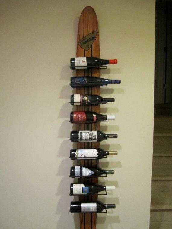 Vintage Waterski Wine Rack by woskab on Etsy, $225.00