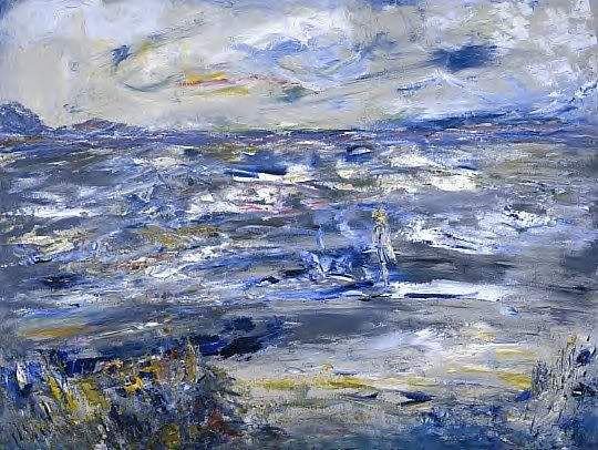 """Queen Maeve Walked Upon The Strand"" Jack B Yeats"