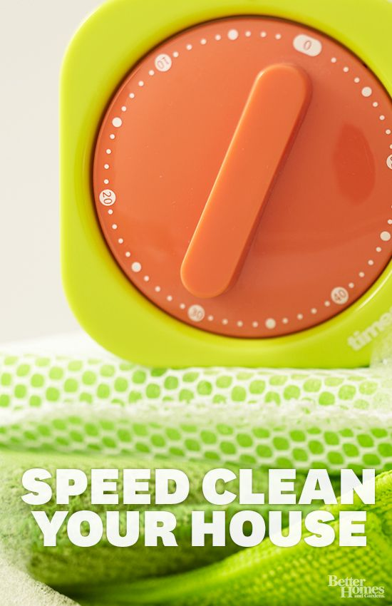 Check out these 10 helpful tips to satisfy your need for cleaning speed: http://www.bhg.com/homekeeping/house-cleaning/tips/speed-clean/?socsrc=bhgpin032414speedclean