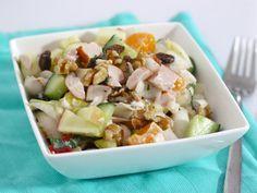 Salade witlof, kip en manderijn