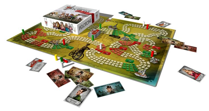 Cycling board game for champions of all ages