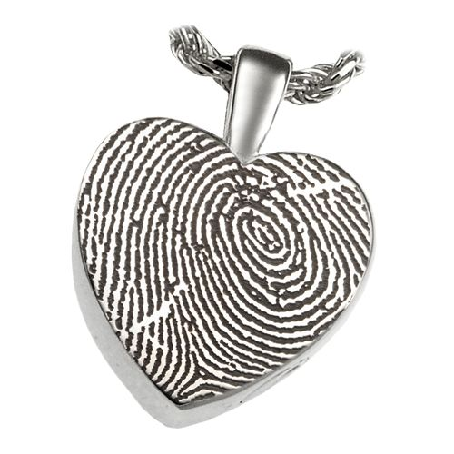Fingerprint Cremation Jewelry Classic Heart
