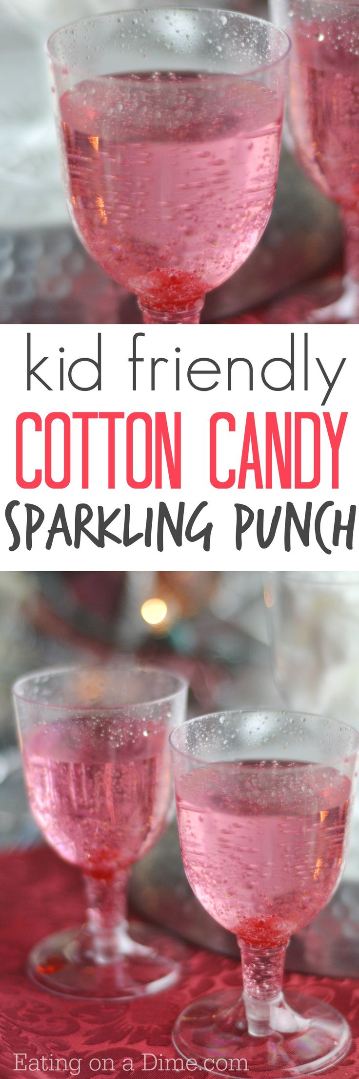 You have to make this super easy Cotton Candy Drink Recipe - the kids love it and you only need 2 ingredients to make it!