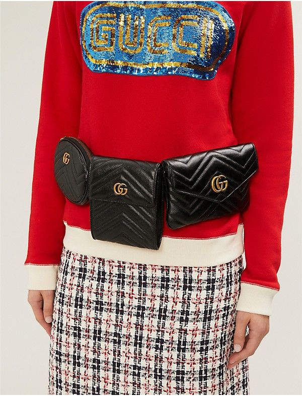 056275006dd GG Marmont matelassé leather multi belt bag | I ❤ Handbags! | Gucci handbags,  Bags, Gucci