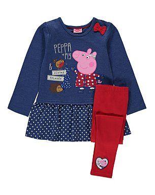 Peppa Pig Dress and Leggings Set