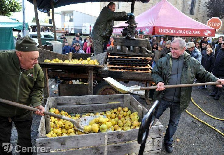 La fête de la châtaigne (et de la pomme) à Dournazac. Alice Bercheny lâchera la mairie en mars. Après avoir usé de ce qu'elle appelle son bon sens rural, elle avoue une certaine lassitude. - archives 2012