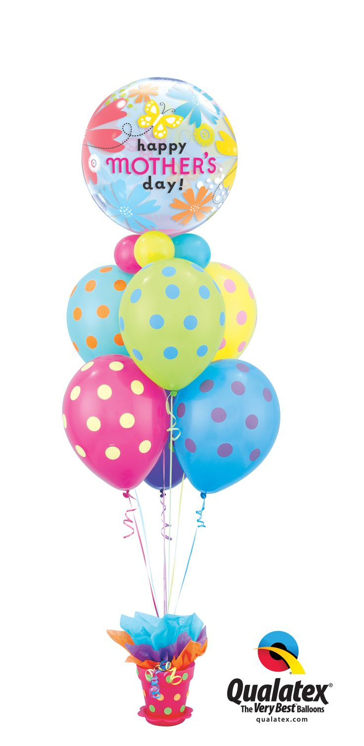 Our favorite patterns for this Mother's Day: polka dots and flowers! #qualatex #balloon #mothersday