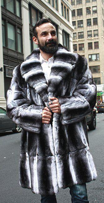 4b4371276f4695 Mens Chinchilla Fur Coat