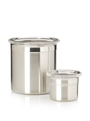 53% OFF BergHOFF Studio 2-Piece Stainless Steel Canister Set, Silver