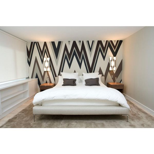 Wallpapered Accent Wall   Contemporary   Bedroom   Haus Interior Part 63
