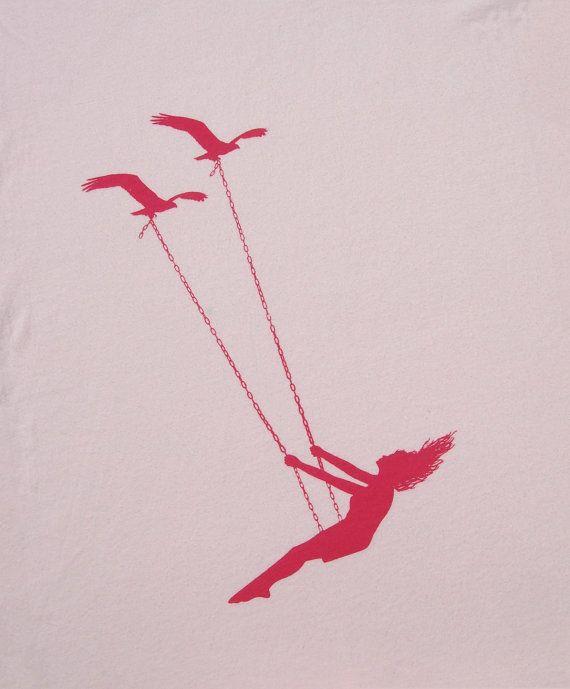 Vol d'oiseaux swing Womens Deep V Neck american par missionthread