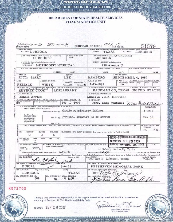 Official ontario birth marriage and death certificates for Baby death certificate template