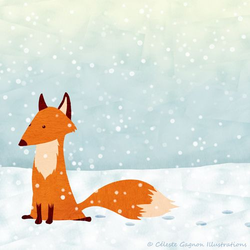 Beautiful fox by Celeste Illustrations, via Flickr