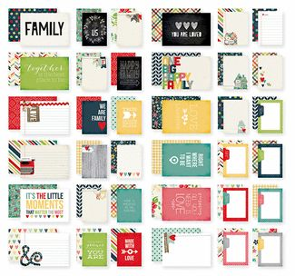 Simple Stories - SNAP Collection - 4 x 6 Cards - Homespun