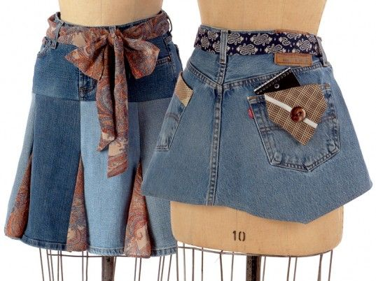 17 best images about diy denim skirts on pinterest skirt for Jeans upcycling ideas