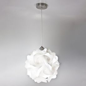 EQLight Hado 13-in W White Pendant Light with White Shade $120 Lowes