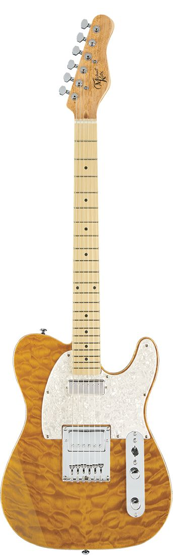 Michael Kelly 1955 Mod Shop Top: Quilt Maple  Body: Swamp Ash Electronics: 8 Partial-Tap Mod - Master Volume (push/pull partial coil tap) - Master tone (push/pull partial coil tap) - 3 way blade switch Neck Pickup: Fralin Mini Humbucker (hand-wound in the USA)  Bridge Pickup: Fralin Pure PAF (hand-wound in the USA)