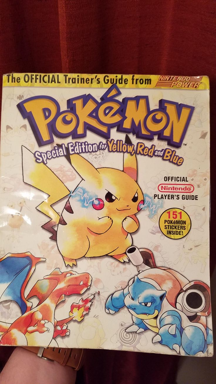 I found my old Pokemon Red/Blue/Yellow Strategy Guide while packing!