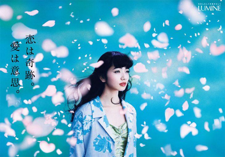 2015年春広告メイキングのテーマは「恋は奇跡。愛は意思。」 LUMINE 2015 spring 撮影photo:蜷川 実花mika ninagawa モデルmodel:小松 菜奈nana komatsu
