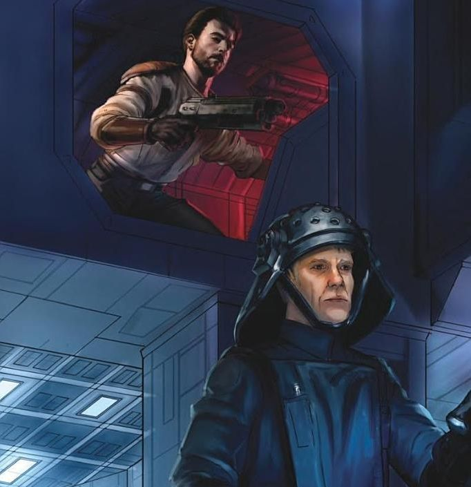 Kyle Katarn Sneaking Behind An Imperial Officer Kyle Katarn Disney Star Wars Star Wars Rpg