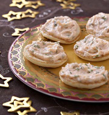 Mousseline de saumon fumé et ses blinis - les meilleures recettes de cuisine d'Ôdélices