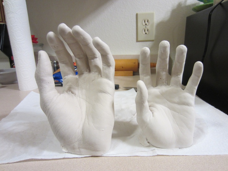 plaster of paris hands awesome and creepy great ideas. Black Bedroom Furniture Sets. Home Design Ideas