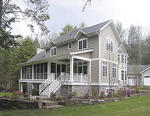 Screened porch deck patio combo deck garden fencing for Walkout basement sunroom