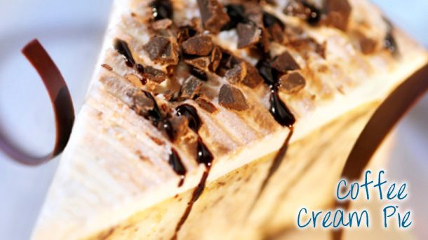 Coffee cream pie - remember to check out the recipe kindly provided by our friendly New World staff!
