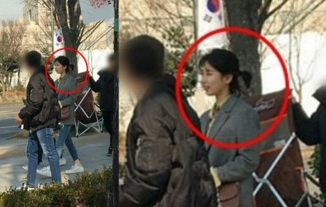 Suzy miss A Terlihat dengan Potongan Rambut Pendek
