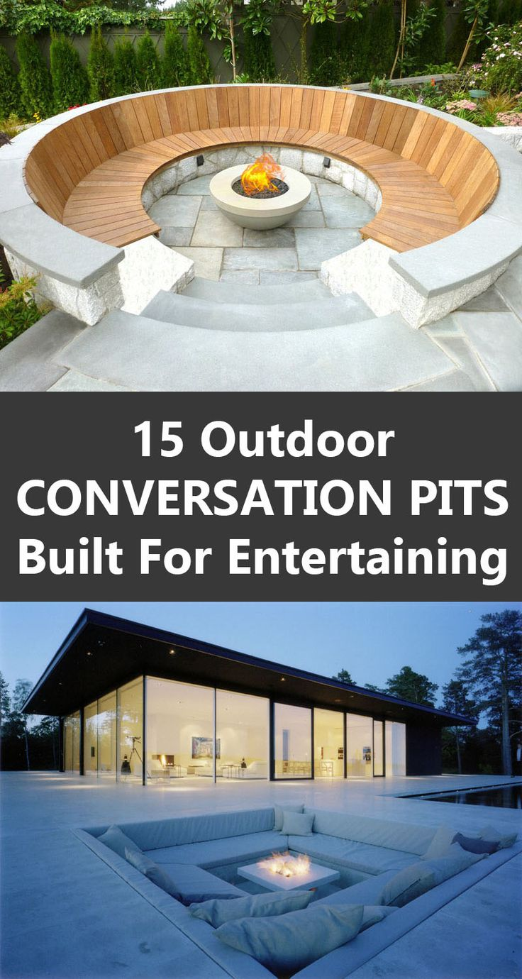 15 Outdoor Conversation Pits Built For Entertaining
