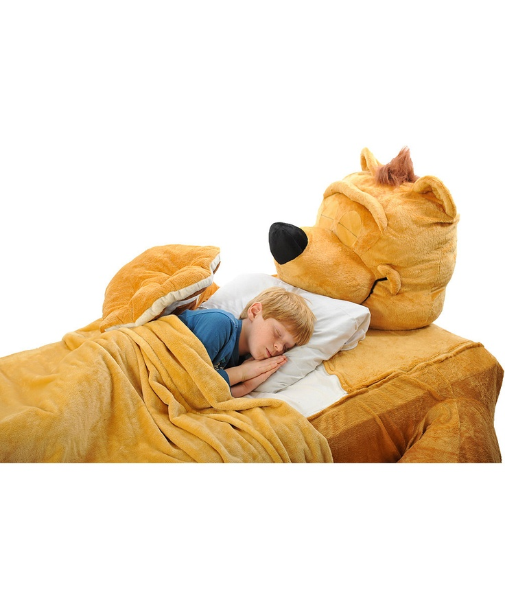 This is something I will certainly consider for Jude. What a great idea to get a toddler into in big bed!! Mocha Fuzzy Brown Bear Twin Bed Cover